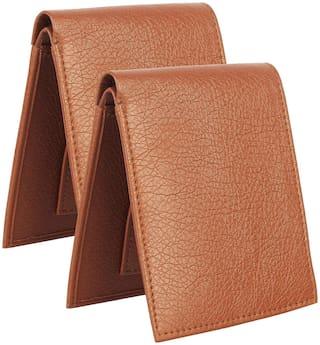 Bifold Purse for men, Gent wallet, Tan Color combo 2