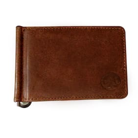 Bincy Alisha International Leather- Genuine Leather Men s Wallet with Money Clip - Brown