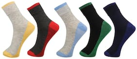 Birde Multicolor Cotton Ankle Length Socks Pack of 5 For Men