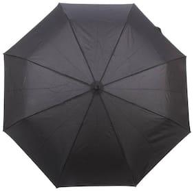 Black 2 fold Auto Open Nylon Umbrella