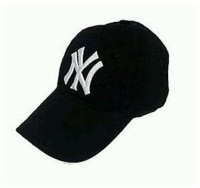bb19e784b49 Black Cotton NY Cap - Pack Of 1