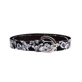 Viva Women Synthetic Leather Belt - Black