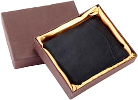 Black Genuine Leather Men's / Gents Wallet (KCP101B)