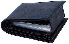 Black Leather Wallet For Men, PU Leather, Bi-Fold, Hand Made, Long Lasting Quality, (Model-MW-SA-BL-0019)