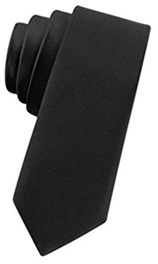 Black Plain Narrow 2.5 inch Tie