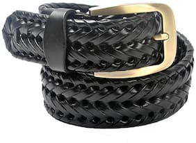 JARS Collections Women Synthetic Leather Belt - Black