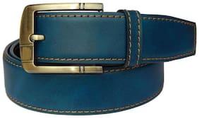 BlacKing Men Casual Blue Genuine Leather Belt