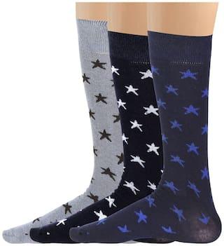 Blacksmith 100%  COTTON FORMAL SOCKS FOR MEN IN ASSORTED COLORS (PACK OF 3) - Star Socks
