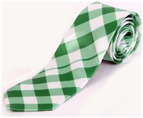 Blacksmith Green Checks Design Tie for Men