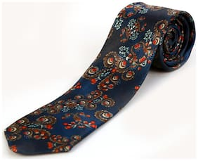 Blacksmith Japanese Flower Print Design Tie for Men