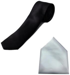 Blacksmith Skinny Tie & Pocket Square Combo Set for Men