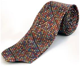 Blacksmith Tiny Brown Circles Design Tie for Men
