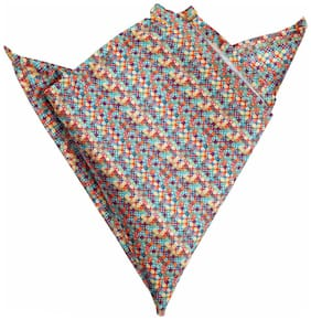 Blacksmithh Cross Multi Printed Pocket Square For Men