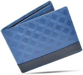 Blessu Men Blue Leather Bi-Fold Wallet ( Pack of 1 )