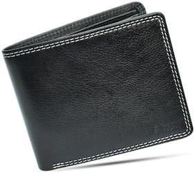 Blessu Men Black Leather Bi-Fold Wallet ( Pack of 1 )