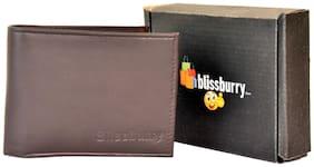 Blissburry Brown Leather Men's Wallet