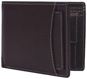 Blissburry Men's Brown Genuine Leather Wallet (Multi Card Slots)