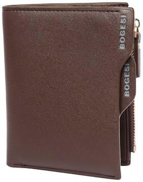 Men Leather Long Wallet Wallet ( Brown )