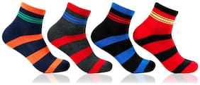 Bonjour Men's Cushioned Four Pair Sports Socks_BRO27012-PO4