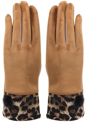 Bonjour Women Fleece Gloves - Brown