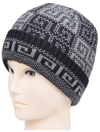 804bdc7ca1789 Buy Bonjour Mens Designer Woolen Knitted Skull Cap Online at Low ...