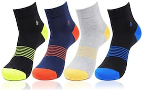 Bonjour Multi Color Socks (Pack Of 4)