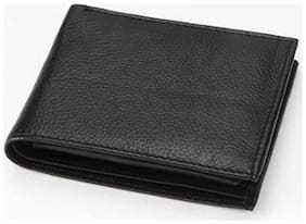 Borse Black Leather Wallet