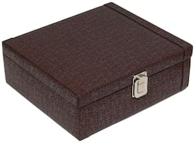 Borse BWC026 Brown Watch Case for 8 Watches
