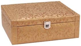 Borse Trendy Gold Watch Case- 8 Compartment