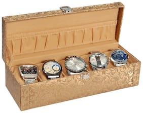 Borse Trendy Gold Watch Case- 5 Compartment