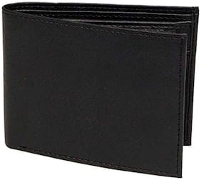 BORSE KCP111B BLACK LEATHERTTE WALLET WITH COIN POCKET