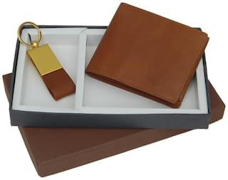 BORSE Men Wallet & Key Chain Accessories Gift Set