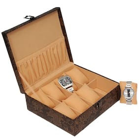 Borse Men Leather Watch cases - Brown , Pack of 1