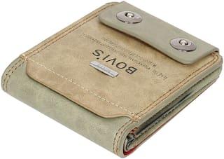 FASHLOOK Men Off white Leather Bi-Fold Wallet ( Pack of 1 )