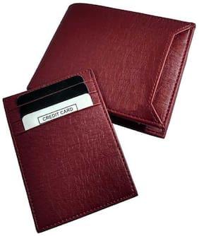 Battlestar Men Maroon Leather Bi-Fold Wallet ( Pack of 1 )