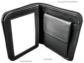 Branded Men Black Artificial Leather Wallet