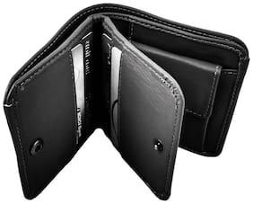 WILDLAND Men Black Leather Bi-Fold Wallet ( Pack of 1 )