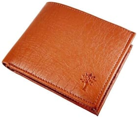 WILDLAND Men Tan Pu Bi-Fold Wallet ( Pack of 1 )