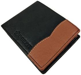 Brexit Men Black Leather Bi-Fold Wallet ( Pack of 1 )