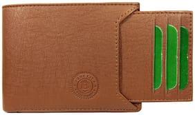 Brexit Men Tan Leather Bi-Fold Wallet ( Pack of 1 )