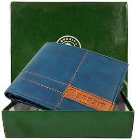 Brexit Men Blue Leather Bi-Fold Wallet ( Pack of 1 )