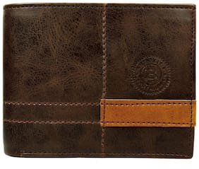 Brexit Men Brown Leather Bi-Fold Wallet ( Pack of 1 )