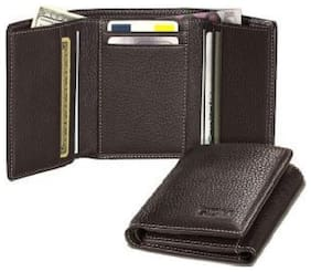 BROWN TRIFOLD WALLET