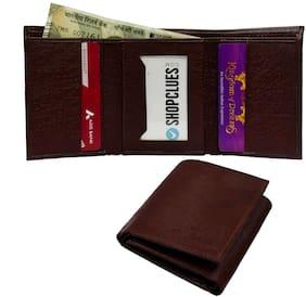 FASHLOOK Men Brown Pu Tri Fold Wallet ( Pack of 1 )
