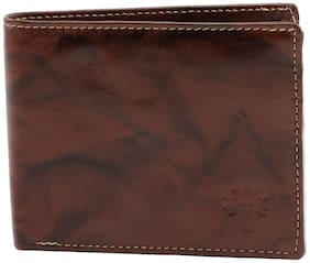 Winsome Men Brown Leather Bi-Fold Wallet ( Pack of 1 )