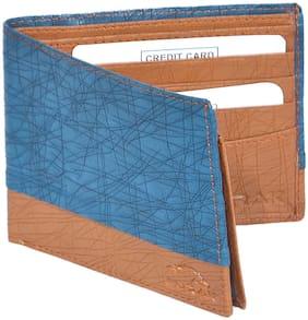BURAK Mens High Quality  Blue Color Leather Wallet (PK-1103)