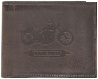 Flying Machine Men Brown Leather Bi-Fold Wallet ( Pack of 1 )