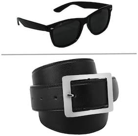 Buy Imperior Black Belt And Get Wayfarer Sunglass Free