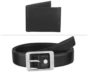 Buy Imperior Black PU Leather Belt And Get Wallet Free
