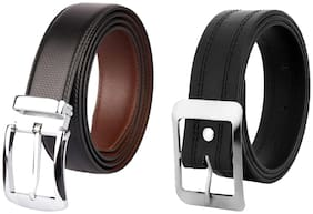 Buy Imperior Leather Reversible Turning Buckle Belt And Get Casual Black Belt Free